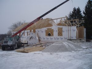 Construction on our permanent home at 4812 Northwestern Avenue began in late 2007 and progressed through one of the worst winters and rainy springs in Wisconsin history.